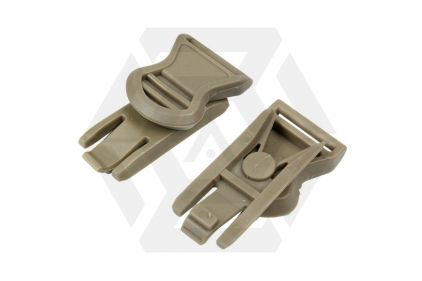 FMA Helmet Swivel Clips for Goggle & Mask Straps (Tan)