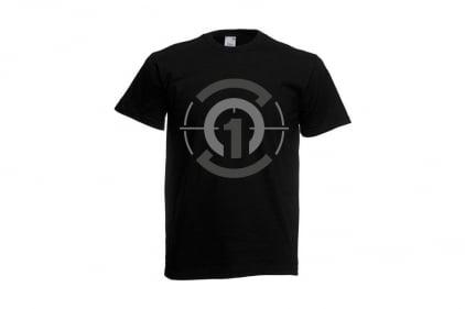 Daft Donkey T-Shirt 'Subdued Zero One Logo' (Black) - Size Medium - £8.95