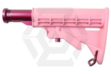 G&G M4 Retractable Stock (Pink) © Copyright Zero One Airsoft