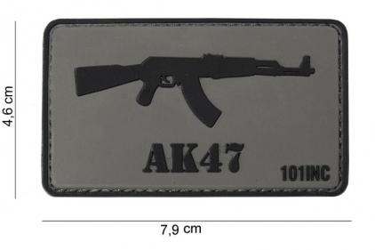"""101 Inc PVC Velcro Patch """"AK47"""""""