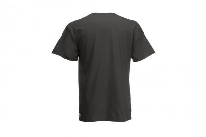 Daft Donkey Christmas T-Shirt 'Santa I NEED It Pistol' (Grey) - Size Medium