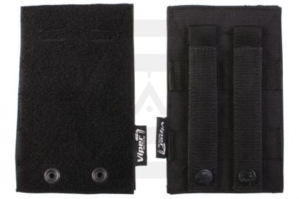 Viper MOLLE Velcro Panels (Black) © Copyright Zero One Airsoft