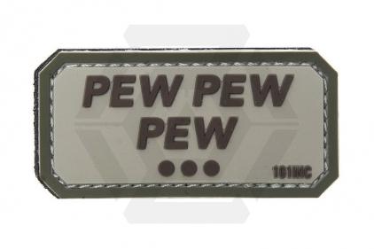 "101 Inc PVC Velcro Patch ""Pew Pew Pew"" (Brown)"