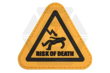 "Viper Velcro PVC Patch ""Risk Of Death"""