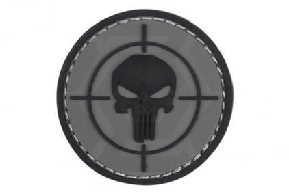 "101 Inc PVC Velcro Patch ""Punisher Sight"" (Grey)"