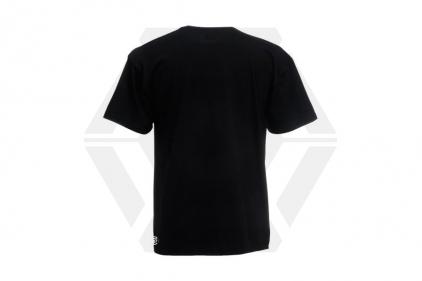 Daft Donkey Christmas T-Shirt 'Merry Christmas You Filthy Animal' (Black) - Size Medium