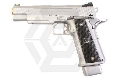 "EMG GBB GAS/CO2 DualFuel Salient Arms International Licensed 5.1"" 2011 DS Training Weapon (Silver)"
