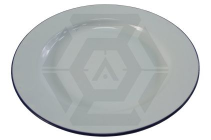 Highlander Traditional Enamel Plate (White)