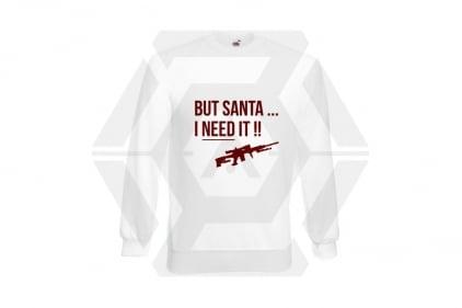Daft Donkey Christmas Jumper 'Santa I NEED It Sniper' (White) - Size Large - £16.95