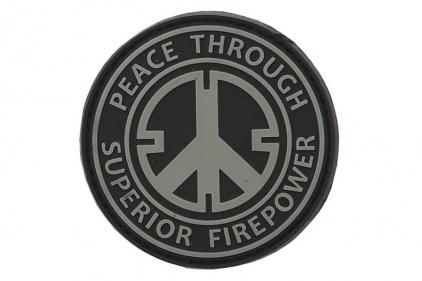 "101 Inc PVC Velcro Patch ""Peace Through Superior Firepower"""