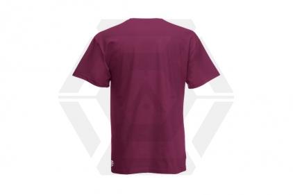 Daft Donkey Christmas T-Shirt 'Merry Christmas You Filthy Animal' (Burgundy) - Size Extra Large