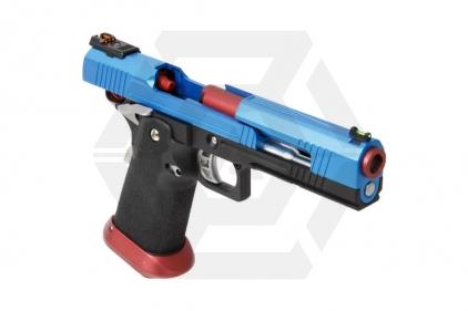 Armorer Works GBB GAS/CO2 DualFuel Hi-Capa HX10 with Split Slide (Blue/Red)