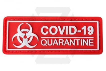 EB PVC Velcro Patch 'Covid-19 Quarantine' © Copyright Zero One Airsoft