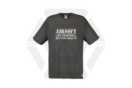 Daft Donkey T-Shirt 'For Adults' (Grey) - Size Small © Copyright Zero One Airsoft