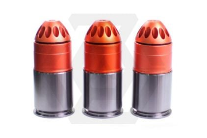 King Arms 40mm Gas Grenade 120rds M381 HE VN Set of 3 © Copyright Zero One Airsoft