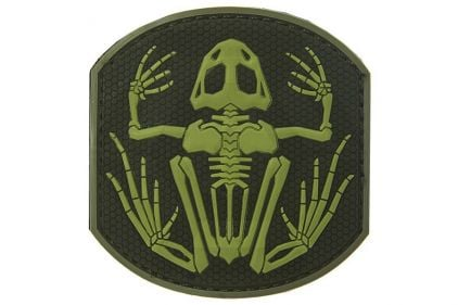 "101 Inc PVC Velcro Patch ""Frog Skeleton"" (Olive)"