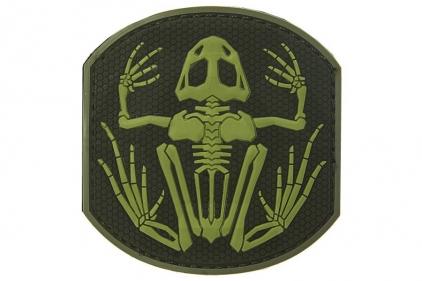 "101 Inc PVC Velcro Patch ""Frog Skeleton"" (Olive)"