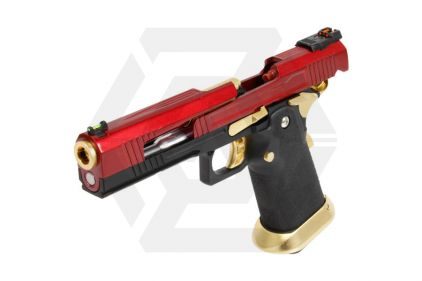 Armorer Works GBB GAS/CO2 DualFuel Hi-Capa HX10 with Split Slide (Red/Gold)