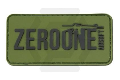 Zero One PVC Velcro Patch 'Zero One Logo' (Olive) © Copyright Zero One Airsoft