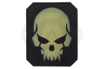 "VOS PVC Velcro ""Pirate Skull"" Glow In The Dark Patch (Black)"