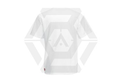 Daft Donkey Christmas T-Shirt 'Santa I NEED It Sniper' (White) - Size Medium