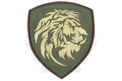 "101 Inc PVC Velcro Patch ""Lion"" (Olive)"