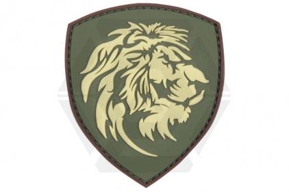 """101 Inc PVC Velcro Patch """"Lion"""" (Olive)"""