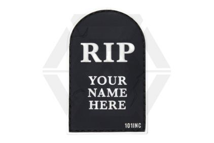 "101 Inc PVC Velcro Patch ""RIP"" (Black)"