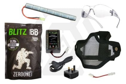 Zero One 8.4v 1600mAh NiMh Stick Battery Starter Pack Tier 1 (Bundle)