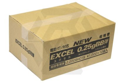 Excel BB 0.25g 2200rds Box of 12 (Bundle) © Copyright Zero One Airsoft