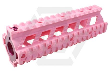 G&G M4 20mm RIS Handguard Raider Style (Pink) © Copyright Zero One Airsoft