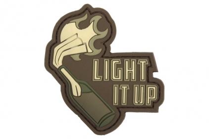 "101 Inc PVC Velcro Patch ""Light It Up"" (Brown)"