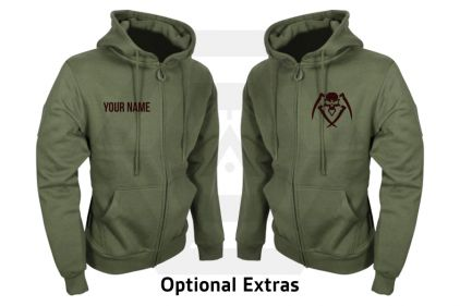 Daft Donkey Special Edition NAF 2018 'Airsoft Festival' Viper Zipped Hoodie (Olive)