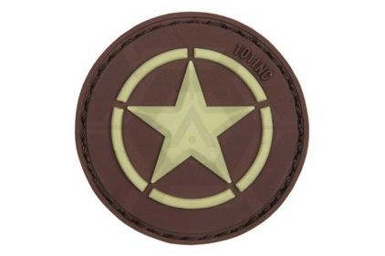 "101 Inc PVC Velcro Patch ""Allied Star"" (Brown)"