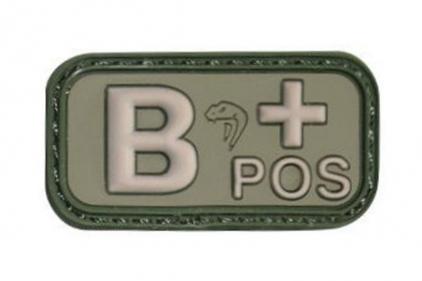Viper Velcro PVC Blood Group Patch B+ (Olive)