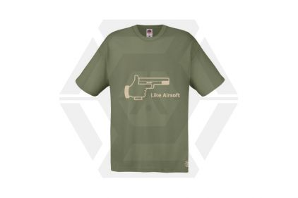 Daft Donkey T-Shirt 'Subdued Like Airsoft' (Olive) - Size Extra Extra Large