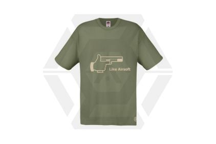 Daft Donkey T-Shirt 'Like Airsoft' (Olive) - Size Large - £9.95