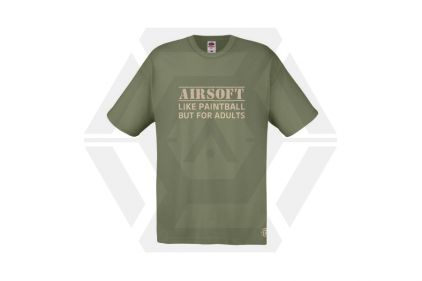 Daft Donkey T-Shirt 'For Adults' (Olive) - Size Small