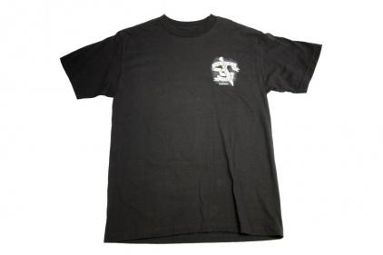 7.62 Design T-Shirt 'Sacrifice & Valor' (Black) - Size Extra Large