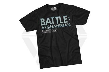7.62 Design T-Shirt 'Battle Afghanistan' (Black) - Size Large