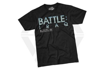 7.62 Design T-Shirt 'Battle Iraq' (Black) - Size Large