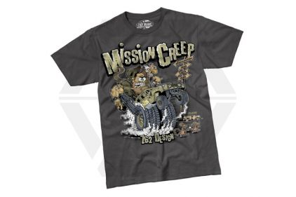 7.62 Design T-Shirt 'Mission Creep' (Charcoal) - Size Medium