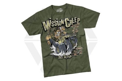 7.62 Design T-Shirt 'Mission Creep' (Olive) - Size Extra Large
