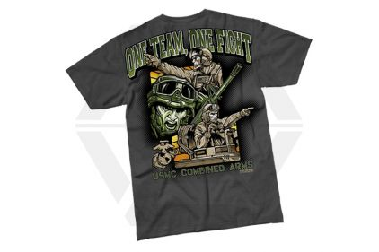 7.62 Design T-Shirt 'One Team One Fight' (Charcoal) - Size Extra Large