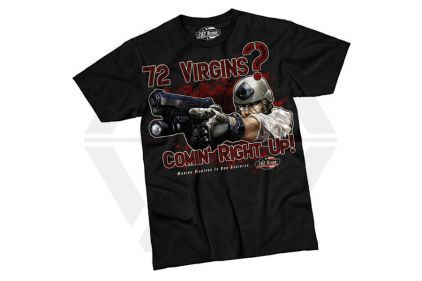 7.62 Design T-Shirt '72 Virgins' (Black) - Size Large