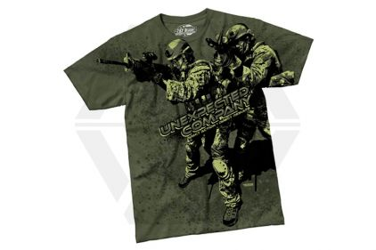 7.62 Design T-Shirt 'Unexpected Company' (Olive) - Size Medium