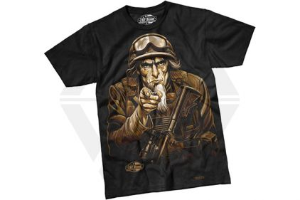7.62 Design T-Shirt 'Sam The Grunt' (Black) - Size Extra Extra Large