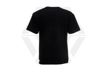Daft Donkey Christmas T-Shirt 'Santa I NEED It Pistol' (Black) - Size Small