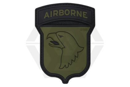 "101 Inc PVC Velcro Patch ""101st Airborne"" (Olive) © Copyright Zero One Airsoft"