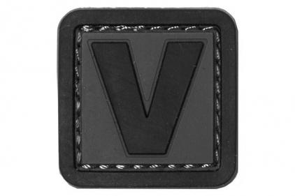 """VOS PVC Velcro Patch """"V"""""""